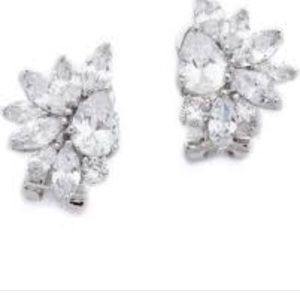 Kenneth jay cluster earrings never worn